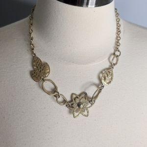 Lia Sophia Golden Girl Flower Necklace